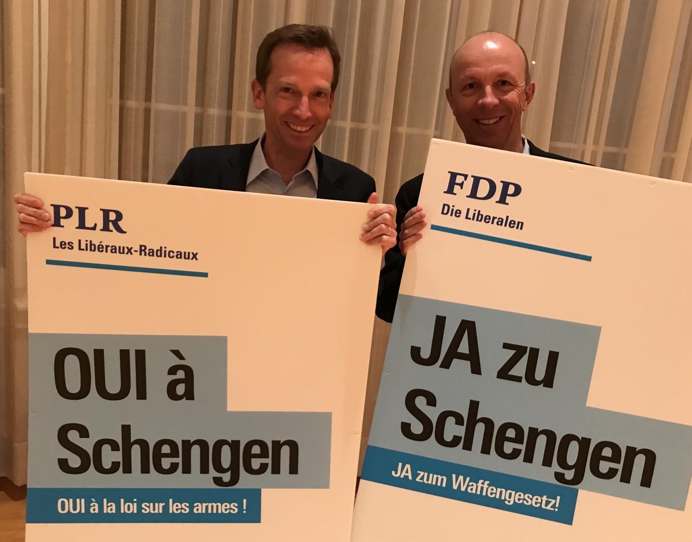 Mit Jürg Lüthi im Einsatz für Schengen in St.